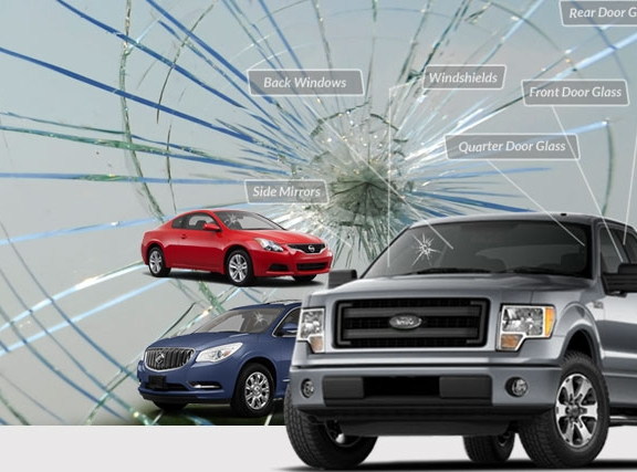 Image of several cars in need of a windshield replacement