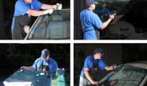 Windshield replacement being done in Phoenix